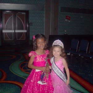 Kaysee and Nya at the All American Miss Princess Competition