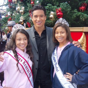 Preteen Maya Purcell and Christina Rubio with Mario Lopez