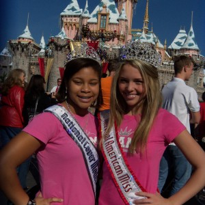 Preteen Maya Purcell with National American Miss Queen Lexi