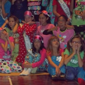 Funny Faces at Pajama Party