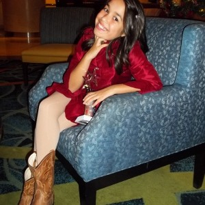 Caitlyn Miss Mercer County NJ Rockn' her Cowgirl boots