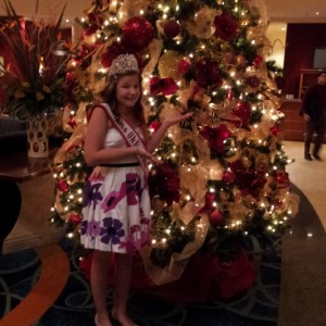 Kaylea Bixler OK preteen with the beautiful lobby christmas tree !!!