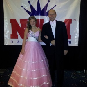 Kaylea Bixler OK preteen with her lovely escort (and father) Gene!!
