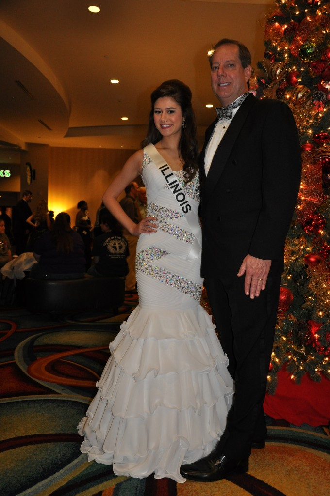 Miss IL Jr. Teen before Formal Wear with her escort/her dad
