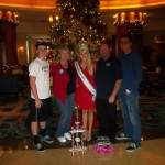 Rebecca and Family at the Christmas tree