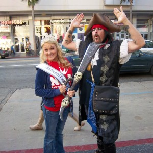 Becky and the Pirate in Hollywood