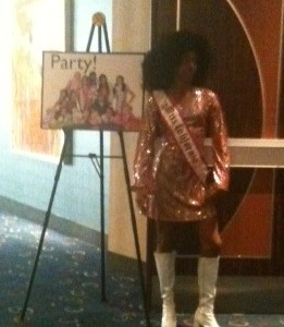 Jada Newkirk at the 70's theme party