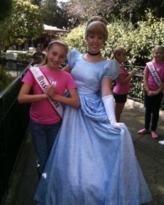 Miss Indiana with Cinderella at Disneyland