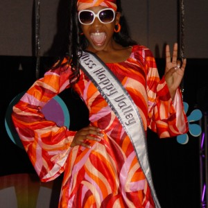 "Hailey Kilgore, Miss Happy Valley, Oregon feeling ""groovy"" at the Pre-Teen 70's party!"