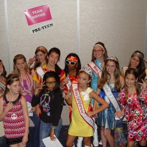 Hailey Kilgore and Team Service working together before the Preteen70s party!
