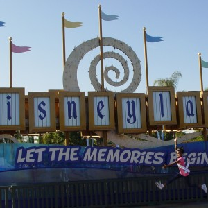 Hailey Kilgore leaping for joy at Disneyland!