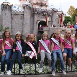Princess' in front of the castle.