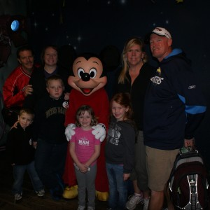 Princess Zoe A. and Jacquelyn B. with Mickey and their families!