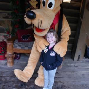 Princess Zoe A. with Pluto