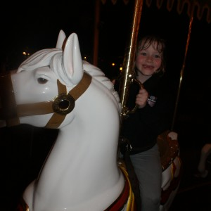Princess Zoe A. on the Carousel
