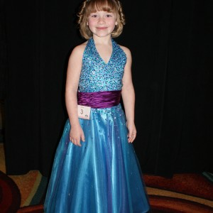Princess Zoe A. in her formal wear.