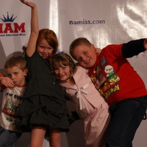 Princess' Zoe A. and Jacquelyn B with Zoe's brothers.