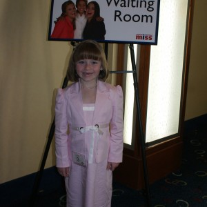 Princess Zoe A. in her interview suit.