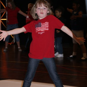 Princess Zoe A. rockin out at the Patriotic Rehearsal!