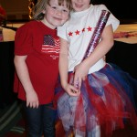 Princess' Jacquelyn B. and Zoe A. at the Patriotic Dance Rehearsal