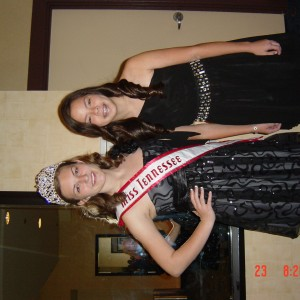 Maggie and Emily at the banquet