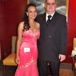 Sayonna Blockwith her father, Douglas Block in Formal wear