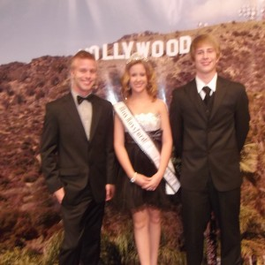 Cailin Maxwell- Miss Rossford and Big Brother Alex and Bradley