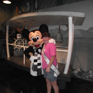 Bridget Watson with Mickey