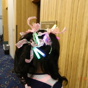 Mariah's glow stick hair