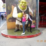 Gabrielle & Melissa with Shrek