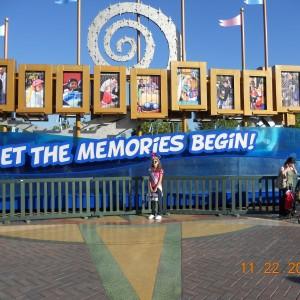 Gabrielle Del Rossi making memories at Disneyland