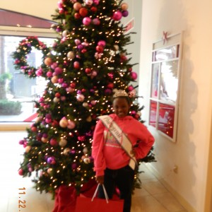 Early Christmas shopping in the American Girl store in LA