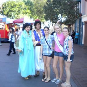 Miss. Springfield & family with Jasmine & Aladin