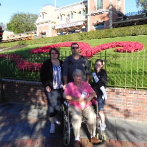 Kelsee with family at Disney
