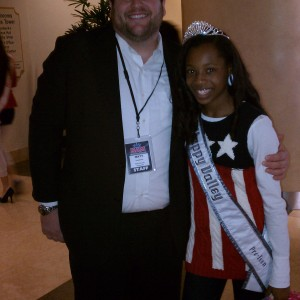 Oregon's Director, Matt Leverton poses with Pre-teen Hailey Kilgore