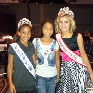 LeAnn Jr. Pre-teen with National Queens Jordan & Jayden