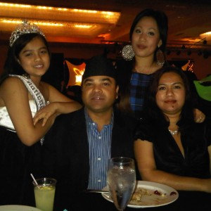 Me, sister, Mom & Dad at the banquet! Check out my dad's cultural hat mmmmm.... -_-