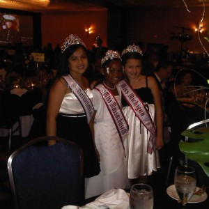 With Miss Massachusetts & Miss Michigan - my table partners for the banquet