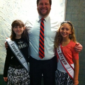 Matt Leverton with Oregon Pre-Teens Kyra Walters & Madeline Monlux