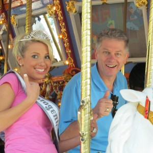 My daddy and me on the carousel!