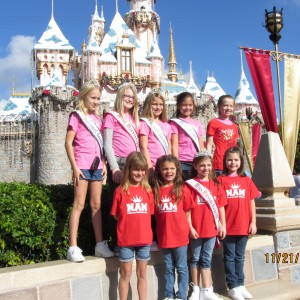 jr. preteen TEAM CONFINDENCE at DIsney Castle