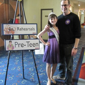 Pre-Teen Kyra Walters with her uncle, Rick Steadman, at Formal Wear Rehearsal