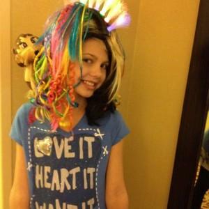 Miss Nebraska ready to show off her crazy hair!