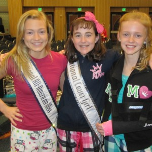 Pre-Teens Michaela Wheat, Kyra Walters & Heather Walters at PJ Rehearsal