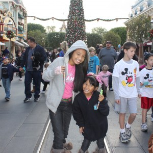 Holiday spirit - Disney style! LeAnn & Asia Divino - forever NAM girls!