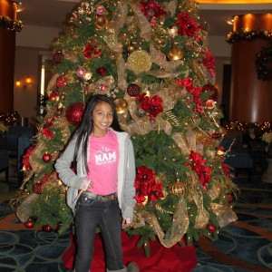 LeAnn Divino All American Jr. Pre-teen feelin' that holiday spirit ;-)