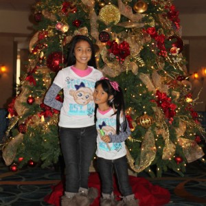 Sisters and BFFs LeAnn & Asia Divino lovin' the holiday spirit :-)