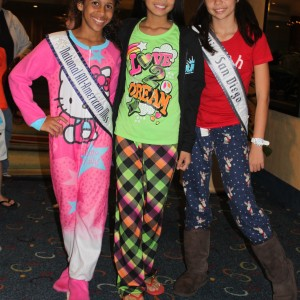 LeAnn & McKenna of Jr Pre-teen Team Ambition rockin' their PJs with Jaden