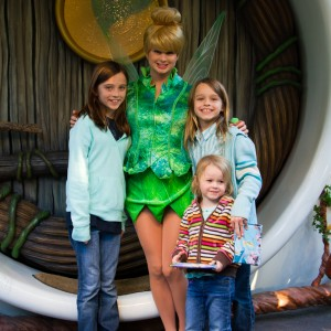 Jade Sewell with Tinkerbell