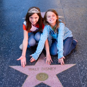 Jade Sewell and sis with Walt Disney